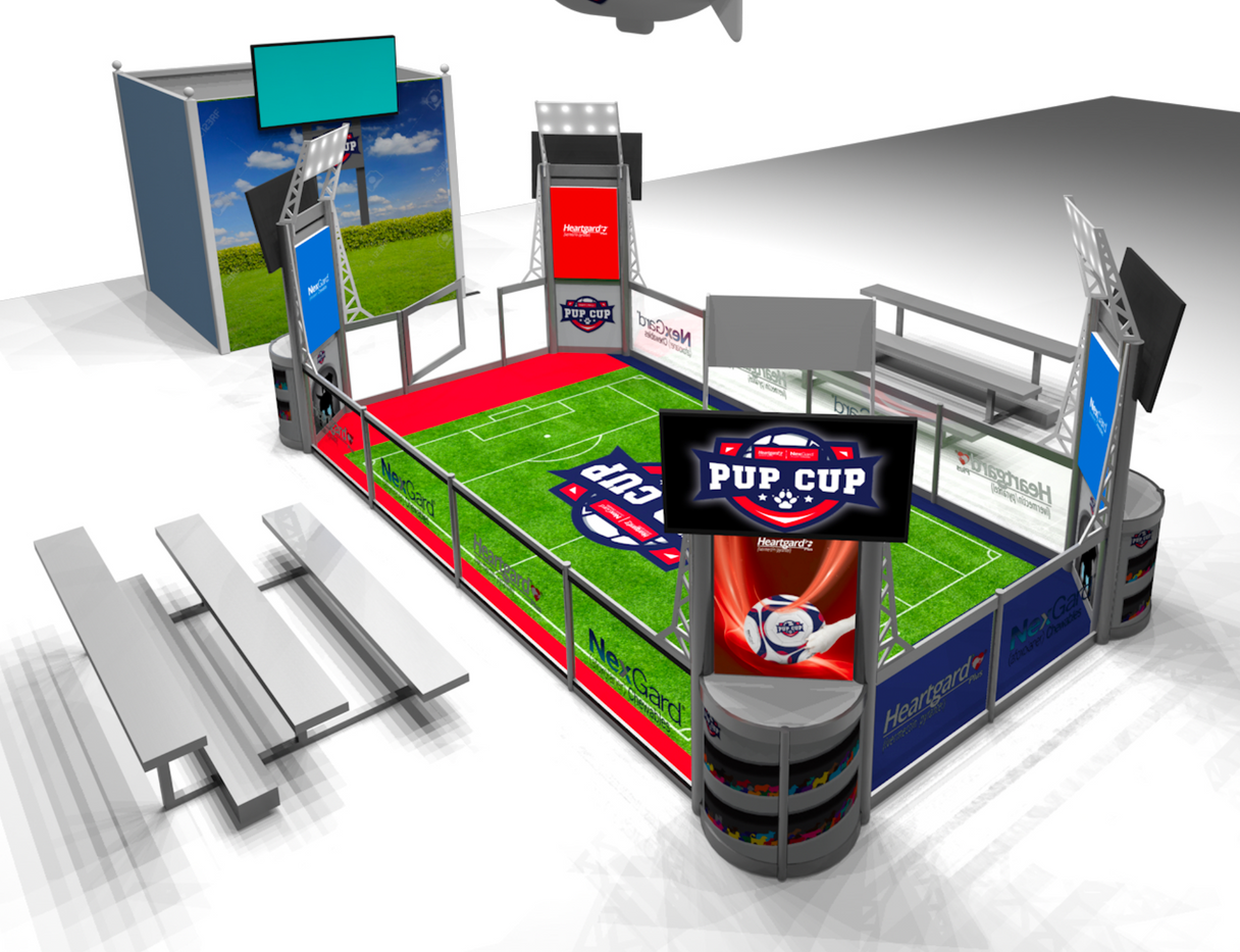 pup cup rendering for tradeshow display