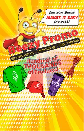 custom brochure design for beezy promo
