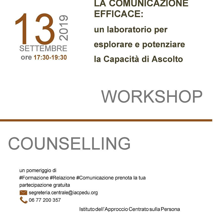 La Comunicazione Efficace (Workshop Counselling)