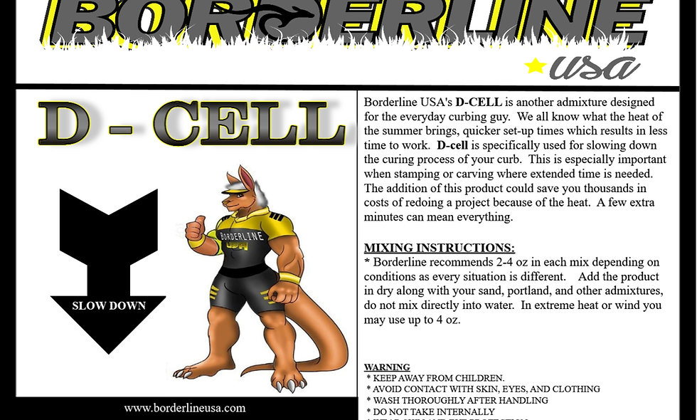 D-Cell  -  Slow down the curing process for more work time.