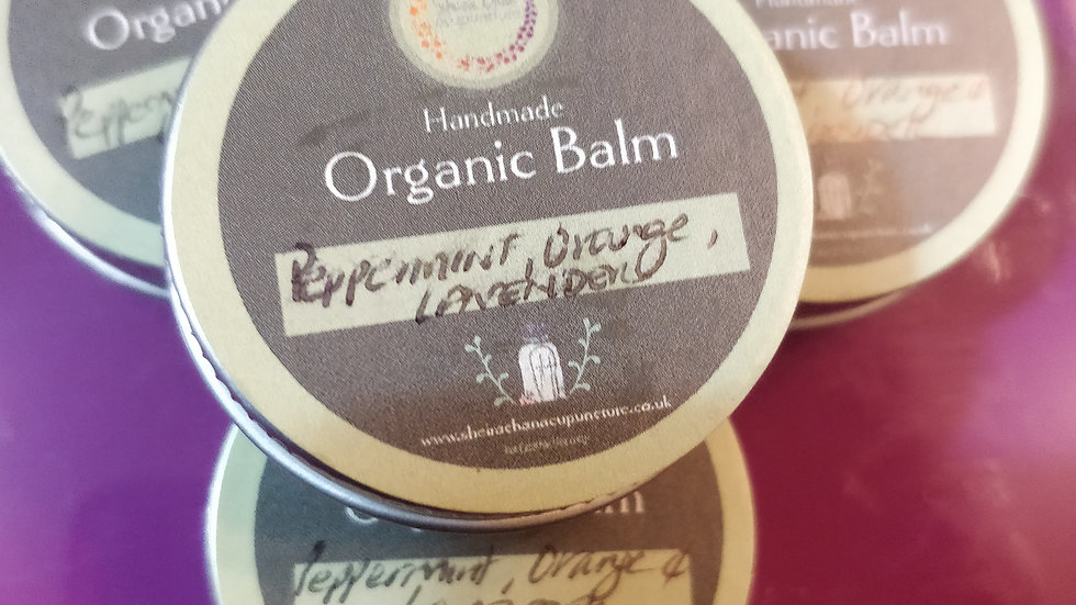 Organic Peppermint, Orange and Lavender Balm