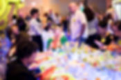 Event attendees at a breakfast meeting