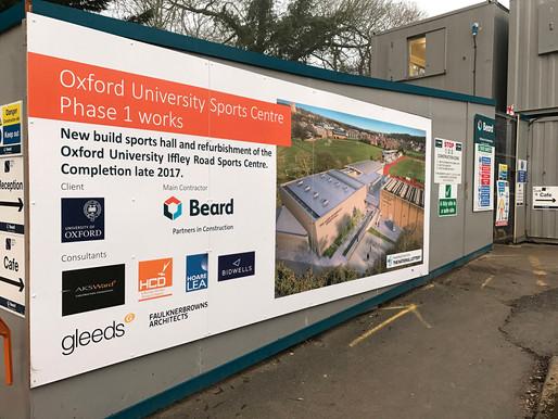 Oxford University Sports Centre - Phase 1 underway
