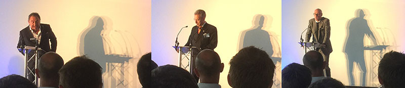 ichard Leslie – CEO of Dukelease, Councillor Robert Davis DL and Simon Allford, Partner at AHMM speak at the 61 Oxford Street completion party