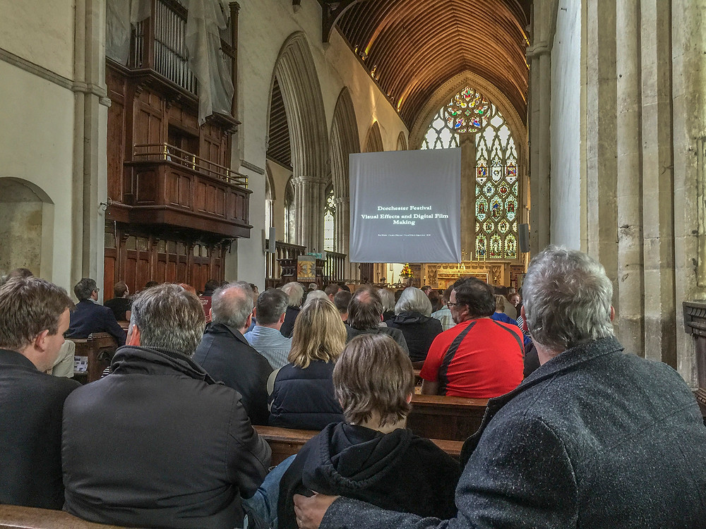 Visual effects talk at Dorchester Abbey