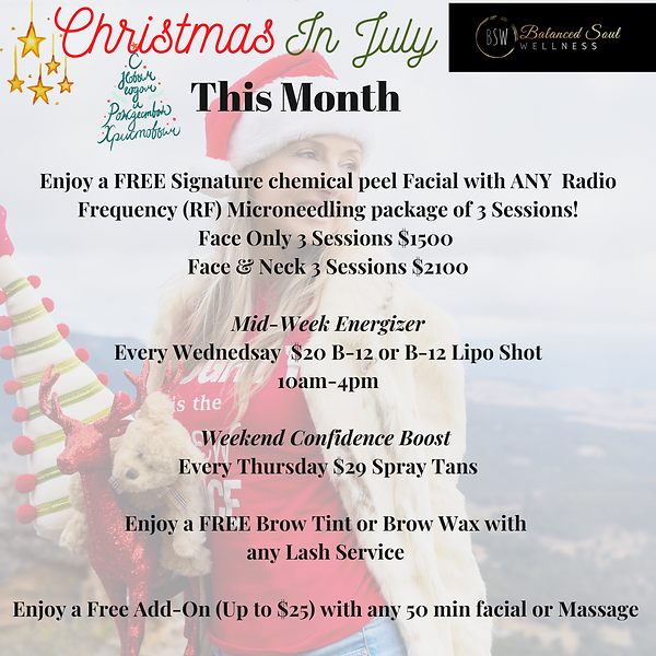 Christmas in July Balanced Soul WELLNESS Day Spa Specials .png