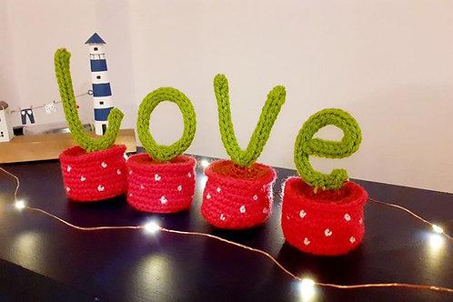 Crochet love wordart