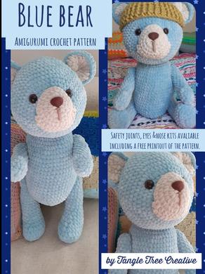Blue Bear free crochet pattern