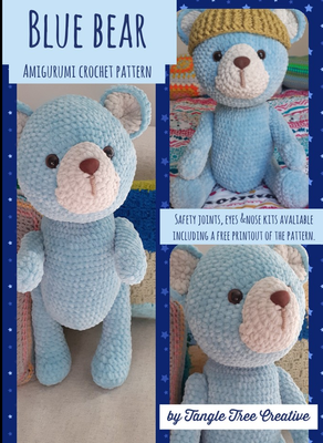 Blue Bear free crochet pattern