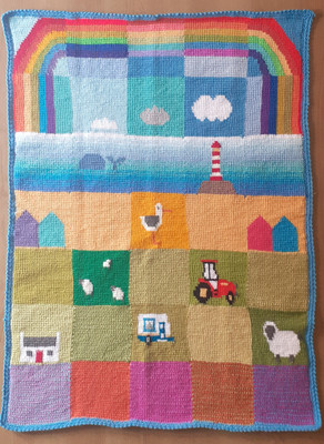 Free rainbow motif pattern - Patchwork Seaside Meadows