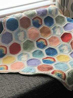 Crochet hexipuff tutorial