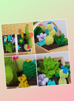 A crochet cacti bonanza