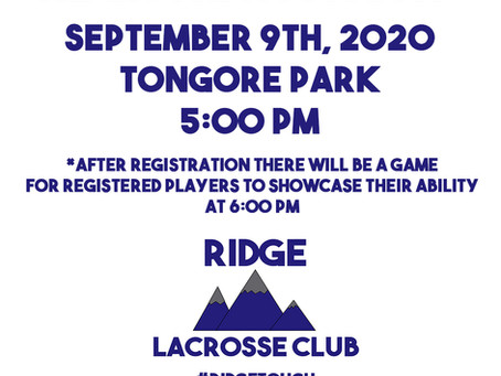 Registration Day September 9th 2020
