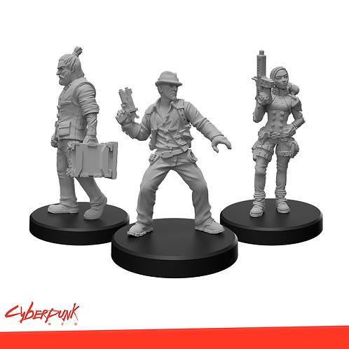 Cyberpunk RED Miniatures - Edgerunners E