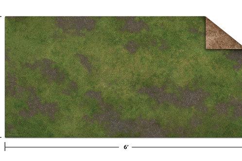 6x3 Game Mat - Broken Grassland / Desert Scrubland