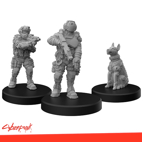 Cyberpunk RED Miniatures - Lawmen B
