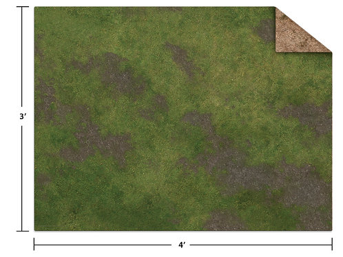 4x3 Game Mat - Broken Grassland / Desert Scrubland