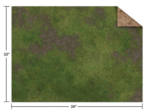 """22x30"""" Game Mat - Broken Grassland / Desert Scrubland"""