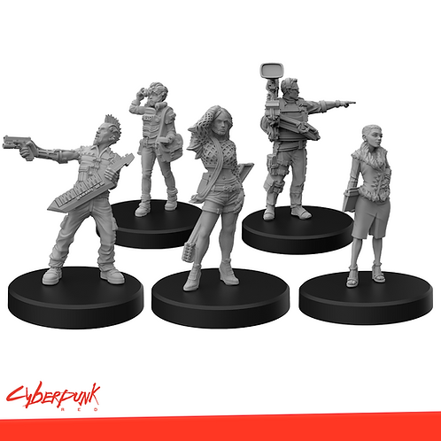 Cyberpunk RED Miniatures - Press  Conference Set