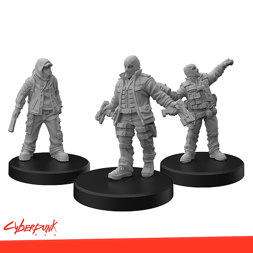 Cyberpunk RED Miniatures - Combat Zoners B