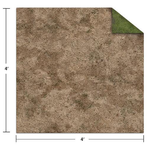 4x4 Game Mat - Broken Grassland / Desert Scrubland