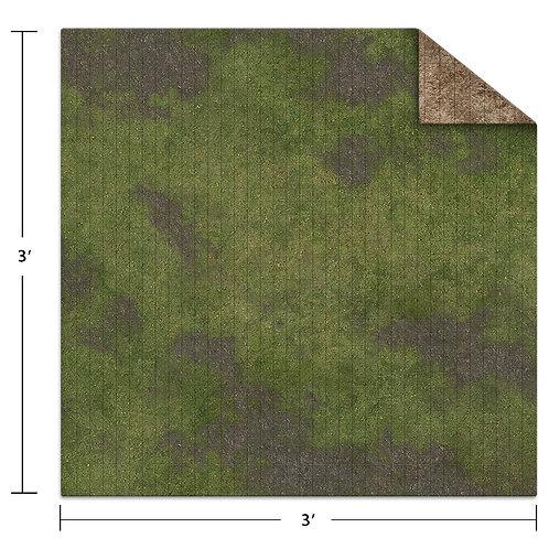 3x3 Adventure Mat - Broken Grassland / Desert Scrubland