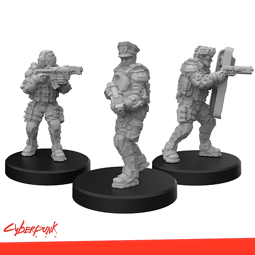 Cyberpunk RED Miniatures - Lawmen A