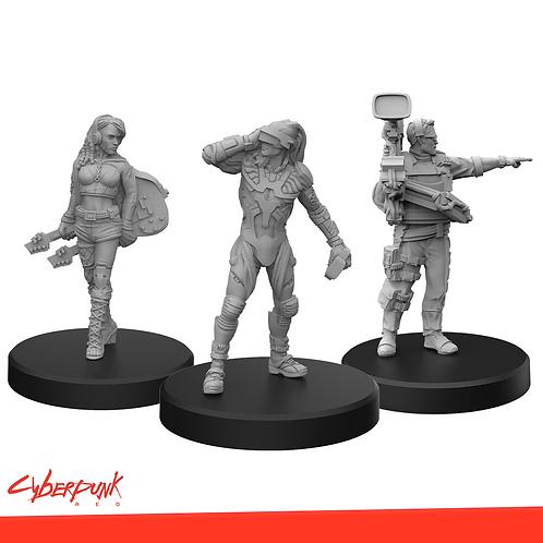 Cyberpunk RED Miniatures - Edgerunners C