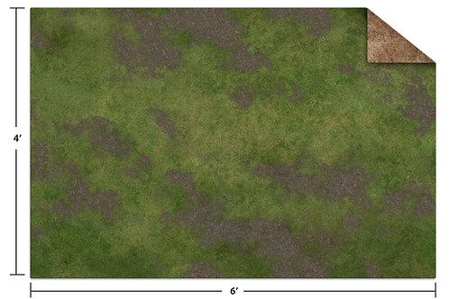 6x4 Game Mat - Broken Grassland / Desert Scrubland