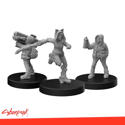 Cyberpunk RED Miniatures - Generation Red B