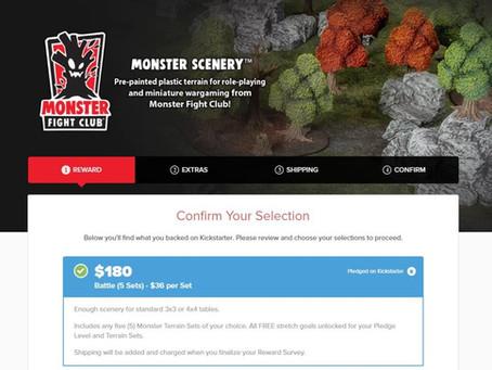 Monster Terrain Pledge Manager Open
