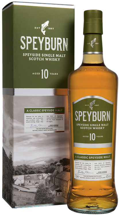 SPEYBURN SPEYSIDE SINGLE MALT SCOTCH WHISKY 10 YR