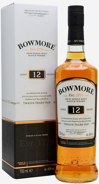 BOWMORE ISLAY SINGLE MALT SCOTCH WHISKY 12 YR