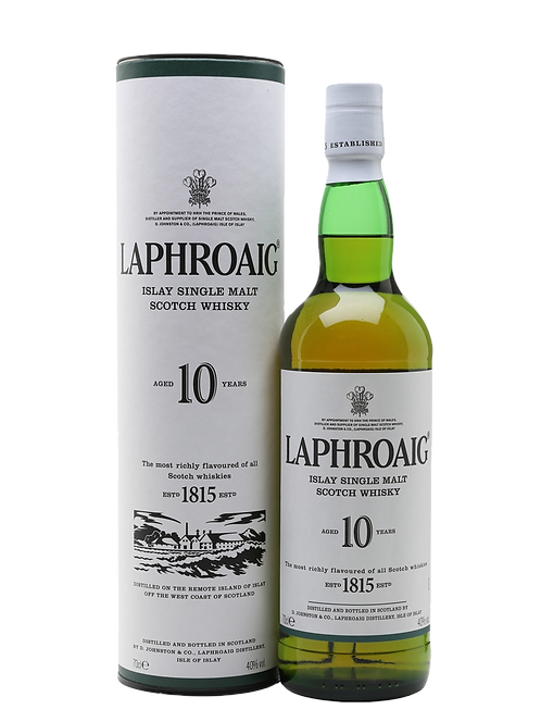 LAPHROAIG ISLAY SINGLE MALT WHISKY 10 YR