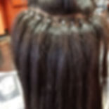 Shampoo and silk wrap on relaxed hair wi