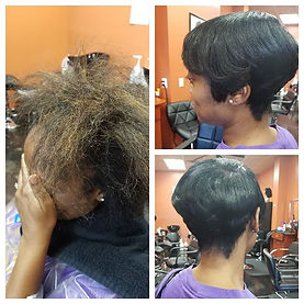 Before and After look.. natural hair,rel