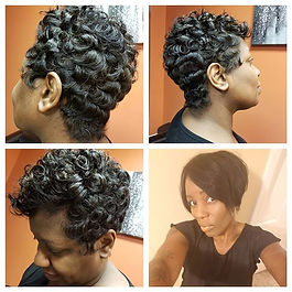 Short pincurl hair style_. .by Ms V Book