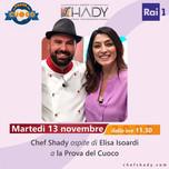 """""""La prova del cuoco"""", chef Shady riparte dall'en-plein di consensi"""