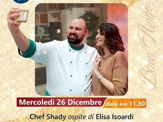 """Il Santo Stefano de """"La prova del cuoco"""" parla aretino con chef Shady"""