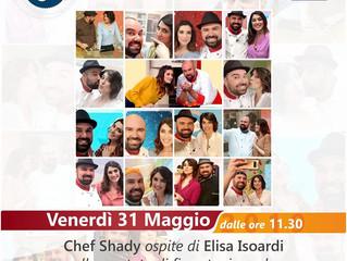 """Chef Shady su RaiUno per l'ultima puntata de """"La prova del cuoco"""""""