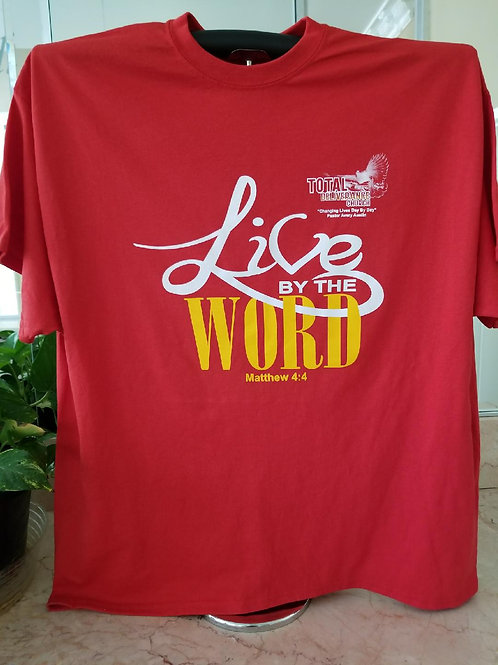 Youth Red Live By The Word T-Shirt