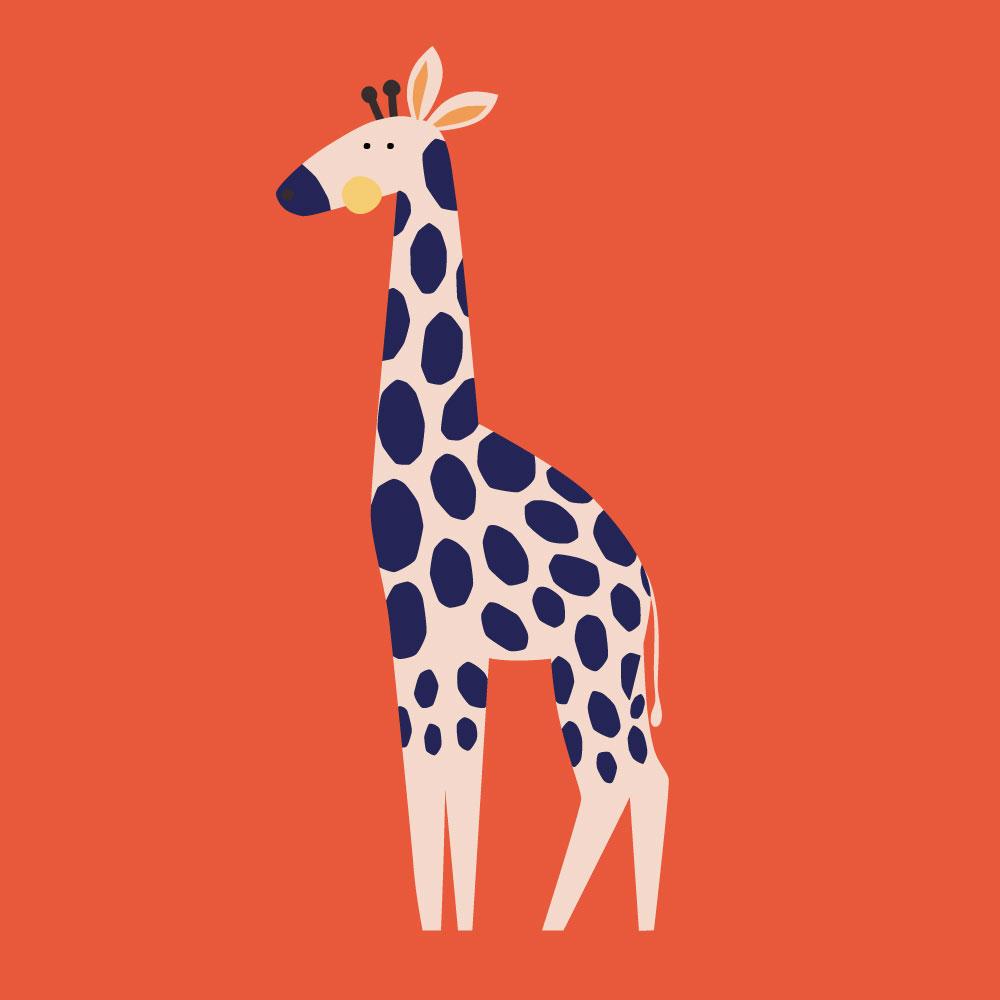 digital illustration of giraffe