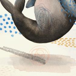Artwork of dugong painting