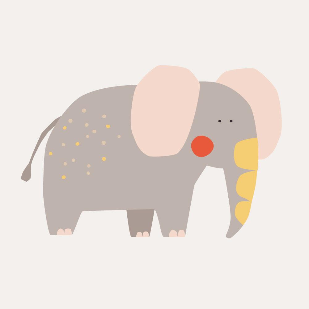 digital illustration of elephant