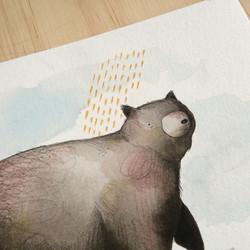 02Artwork of black bear painting