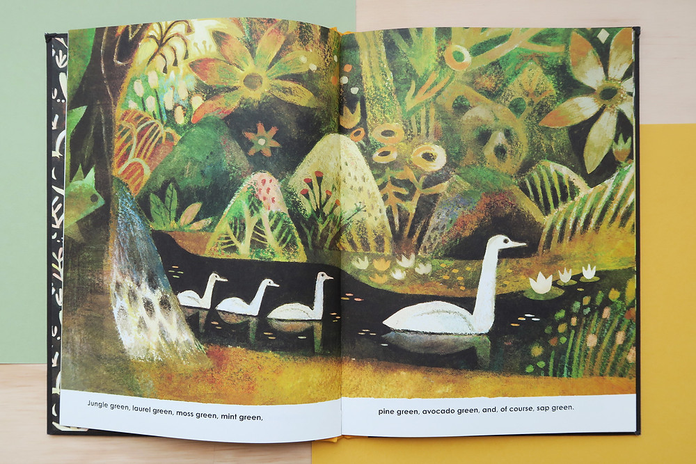 The Gold Leaf children's book page spread