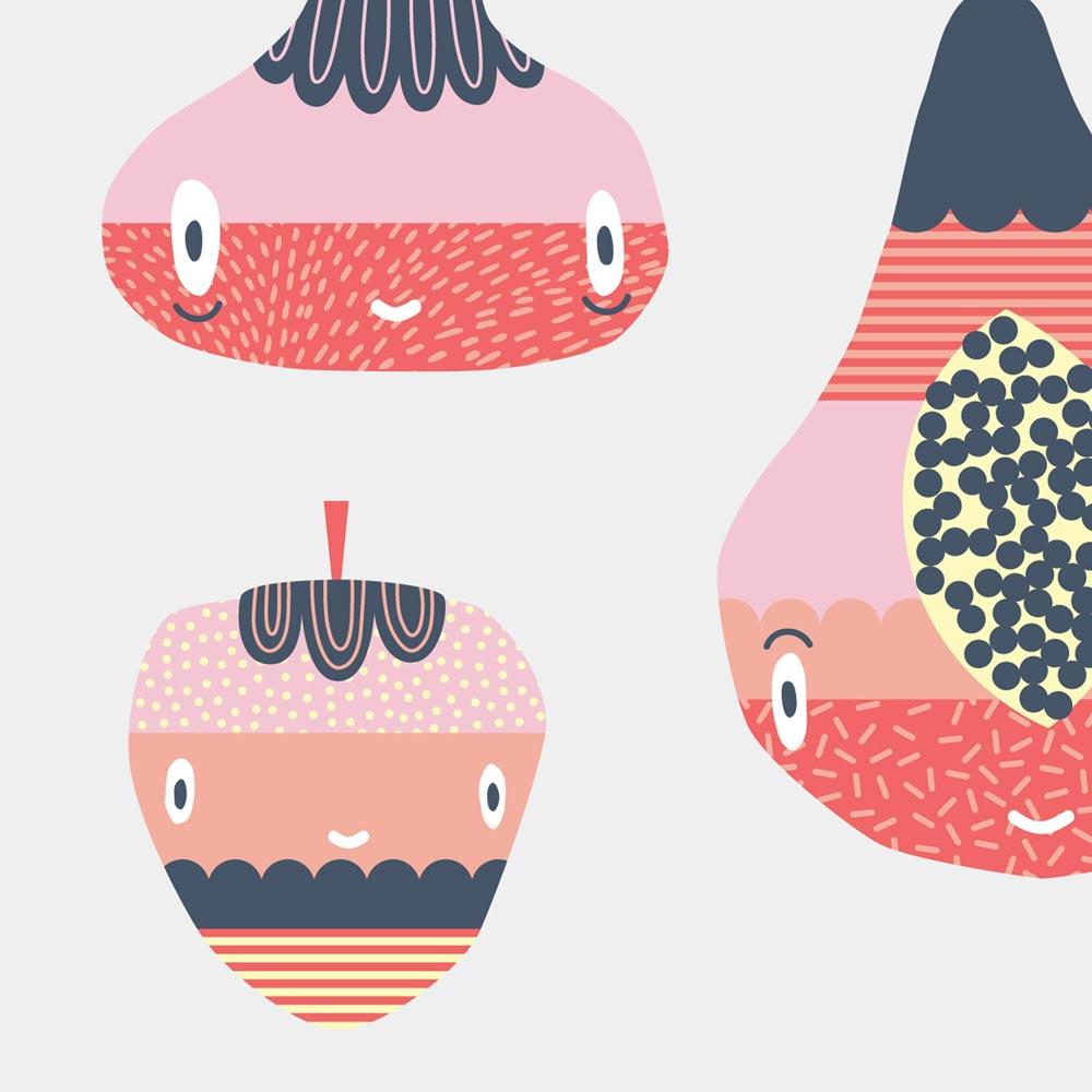 Graphic illustration art print
