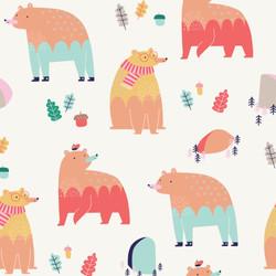 Repeating bear print design