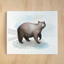 Artwork of black bear painting