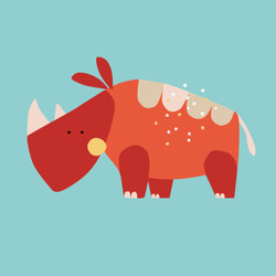 digital illustration of rhinoceros